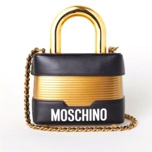 H & M MOSCHINO LOCK BAG LIMITED EDITION.